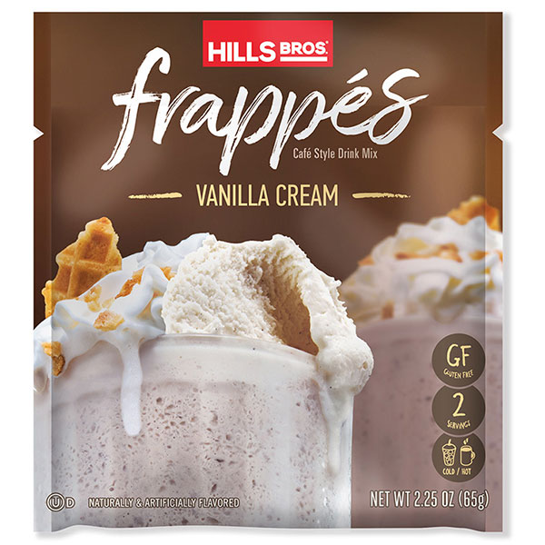 Hills Bros. Vanilla Cream Frappe packet
