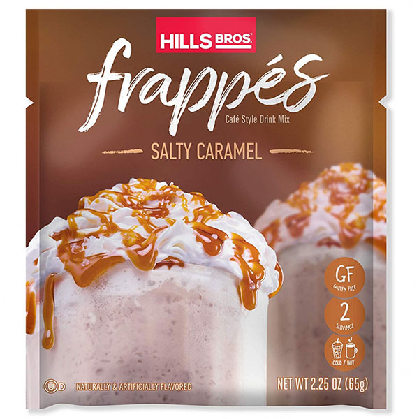 Hills Bros Salty Caramel Frappe packet