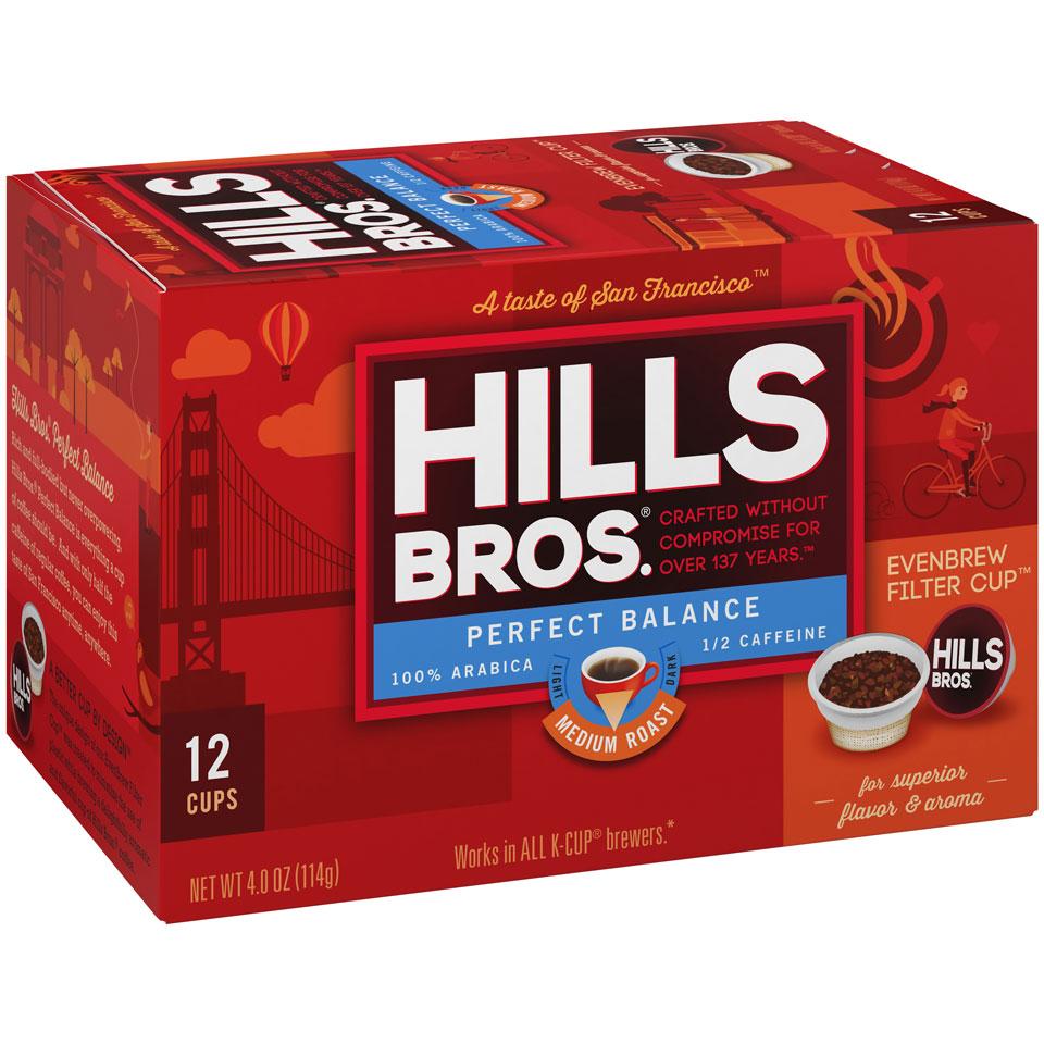 Hills Bros. Perfect Balance Coffee K-Cup Box