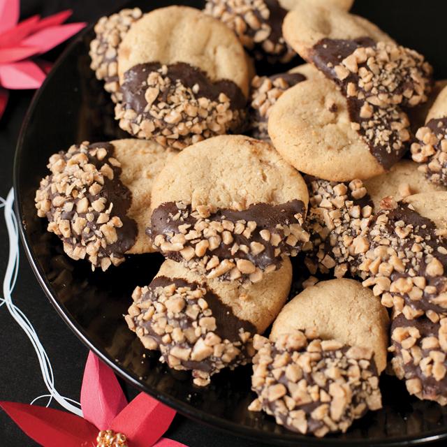 Toffee Cappuccino Shortbread Cookies