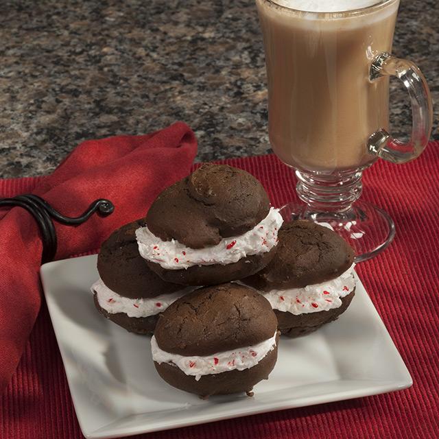 Mocha Mint Cappuccino Whoopie Pies