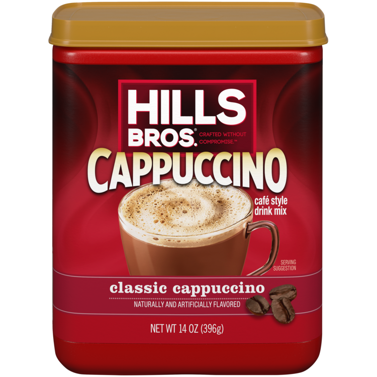 Hills Bros Cappuccino Classic Cappuccino Canister Front