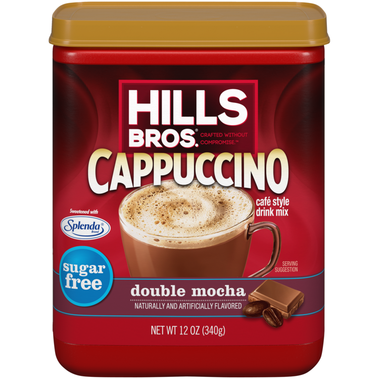 Hills Bros Cappuccino Sugar Free Double Mocha Canister Front