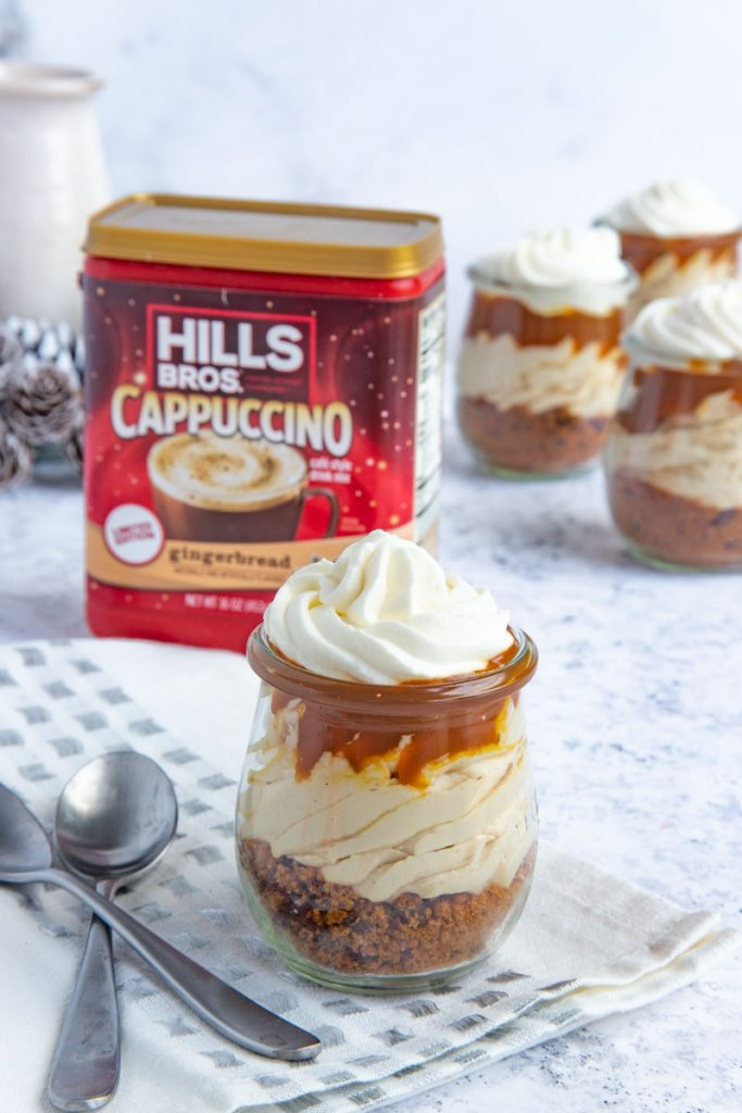Gingerbread Cappuccino Cheesecake Jars